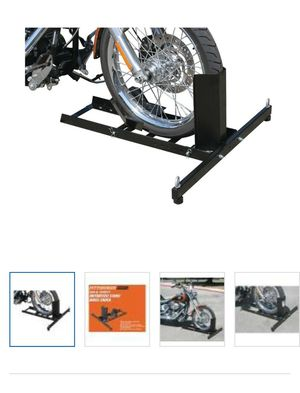1800 lb capacity Motorcycle stand/Wheel Chock for Sale in Park City, KS