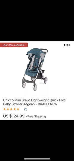 Chicco Mini Bravo Stroller in Aegean Lightweight Collapsible for Sale in Concord, CA