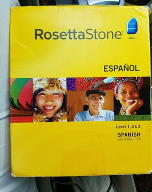 Rosetta Stone Spanish all 3 levels 1-3 version 3 language software for Sale in Elgin, TX