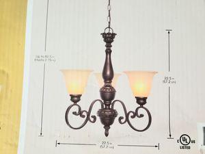 3 light chandelier for Sale in Miami, FL