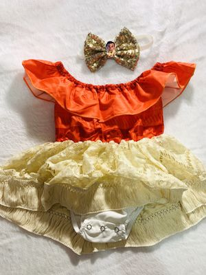12mo Moana romper dress set for Sale in National City, CA