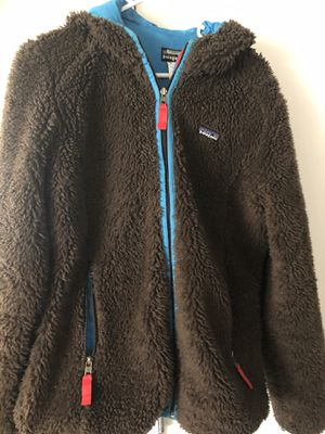 Patagonia Hooded Coat Brown Sherpa Women's Large for Sale in Denver, CO