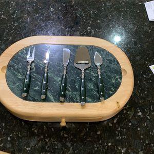 Hampton Home Cheese Cutting Board + Utensils for Sale in Tampa, FL