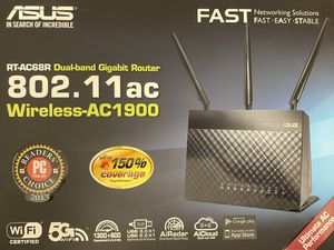 ASUS RT-AC68R Dual-Band Gigabit Router 802.11ac Wireless-AC1900 for Sale in Kissimmee, FL