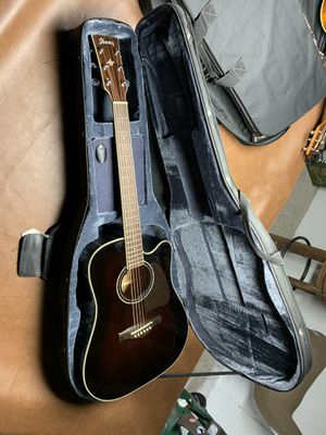 Ibanez AW300ECE Artwood Solid Top Dreadnought Cutaway Acoustic-Electric Guitar & Case for Sale in Round Lake, IL