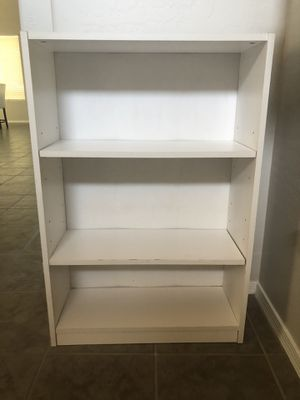 3 foot white bookshelf for Sale in Gilbert, AZ