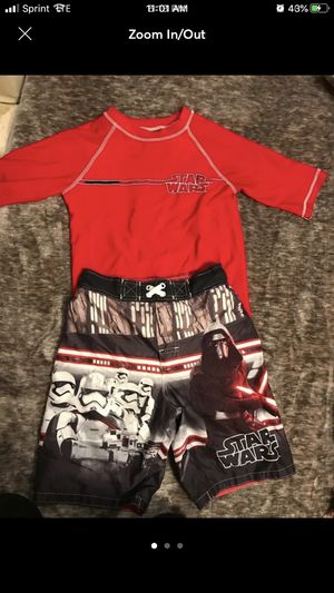 Star Wars boys swimwear size M (8) for Sale in Redondo Beach, CA