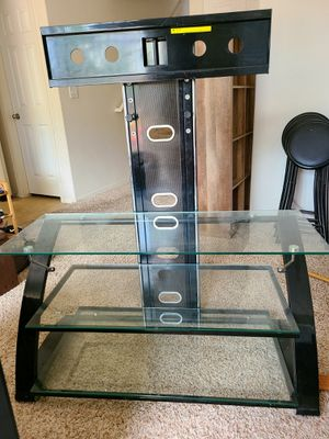 Glass tv stand for Sale in Lochbuie, CO