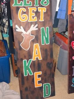 Signs Made Anyway You Want Just Message Me On Here For Details And Price for Sale in New Canton,  VA