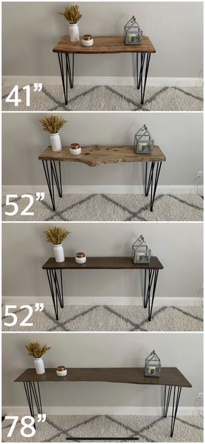 Solid Wood Live Edge Hairpin Legs Console Table Tables Stand Stands Dining for Sale in San Francisco, CA