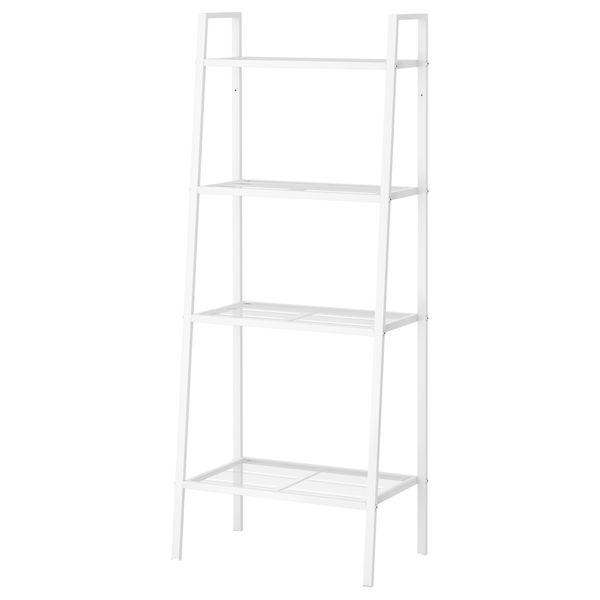 Ikea white metal bookcase shelving