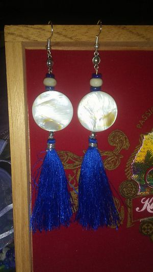 tassle & stone customizable earrings for Sale in Phoenix, AZ