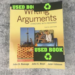 Writing Arguments: A Rhetoric with Readings (10th Edition) Paperback Textbook for Sale in Garden Grove, CA