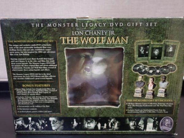 THE MONSTER LEGACY DVD GIFT SET FRANKENSTEIN & DRACULA & THE WOLFMAN
