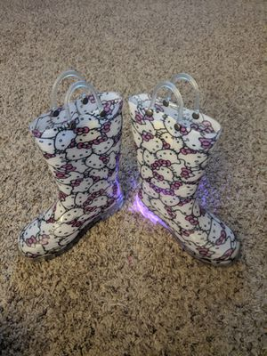 Girls Hello Kitty Rain Boots Size 11 for Sale in Peoria, AZ