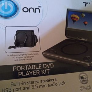 Onn Portable dvd Combo. Carrying Bag, Headphones, Adapter, Remote for Sale in Bristol, CT
