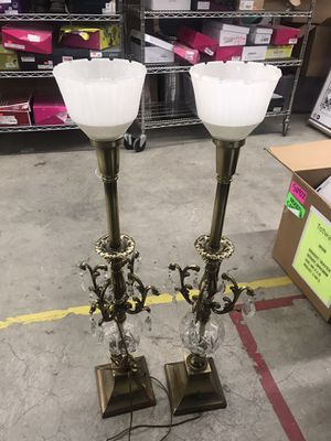 Beautiful Vintage/ antique crystal and brass lamps for Sale in Puyallup, WA