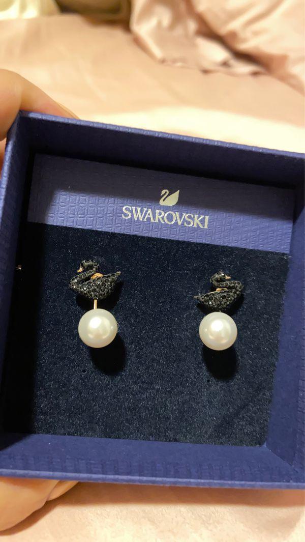 Swarovski Black Swan Earrings