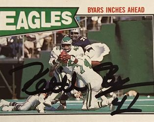 1987 Topps #294 Keith Byars Philadelphia Eagles signed autograph for Sale in Glen Carbon,  IL