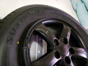 Set of 4 Used Rims n Tires Fits Santa Fe 2007-2010 for Sale in Miami Gardens, FL