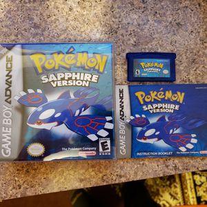 Pokemon Sapphire CiB For Gameboy Advance for Sale in Oshkosh, WI