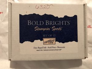 Stampin'up stampin'spots bold brights dye based ink for Sale in Fresno, CA