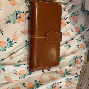 Brown Leather Wristlet for Sale in Lakewood Township, NJ
