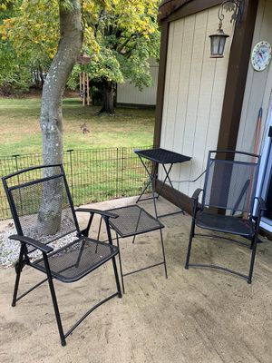 Black metal outdoor furniture for Sale in Howell Township, NJ