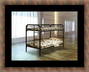 Twin bunk bed frame with mattress for Sale in Hyattsville, MD