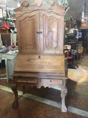Large rustic farmhouse wood desk hutch for Sale in San Diego, CA