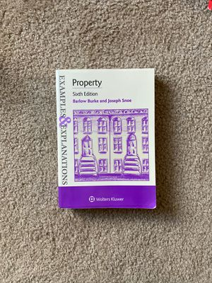 Property, Sixth Edition, Burke & Snoe for Sale in Lynchburg, VA
