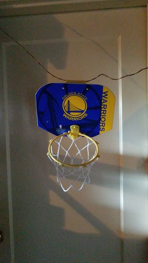 Golden State Warriors mini basketball hoop with ball for Sale in Oakland, CA