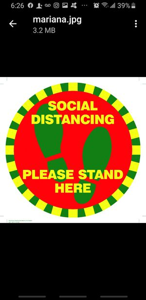 * Customize Social Distancing Floor Stcker Decal Slip Resistant 12 Inches- Choose Your Own Color* for Sale in Las Vegas, NV