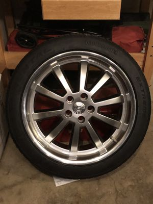 "1 Continental Extreme tire with 20""wheel for Sale in Alexandria, VA"