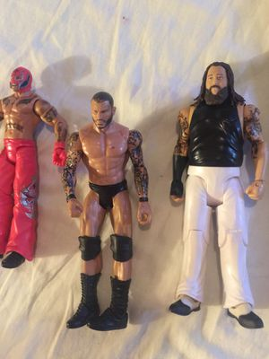 WWE Action figures dolls collectible trio for Sale in Tacoma, WA