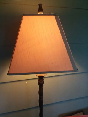 Floor lamp, bronze finish, beige shade for Sale in Greensboro, NC