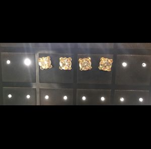 2 Pairs of Large Diamond Earrings for Sale in Scottsdale, AZ