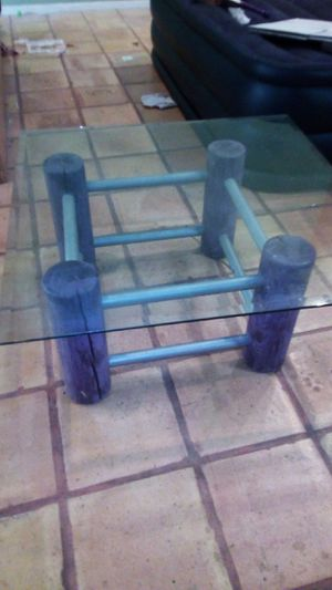 Shabby Chic distressed purple set of 3 tables for Sale in Phoenix, AZ