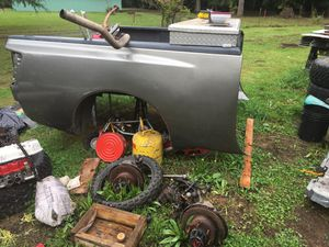 2005 Nissan Titan bed $300and paddle tires $300 for Sale in Montesano, WA
