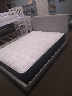 Queen size platform bed frame with 13 inch Ashley Plus Mattress included for Sale in Glendale, AZ
