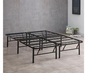 King Bed Frame, Sturdy Metal with storage for Sale in Gaithersburg, MD