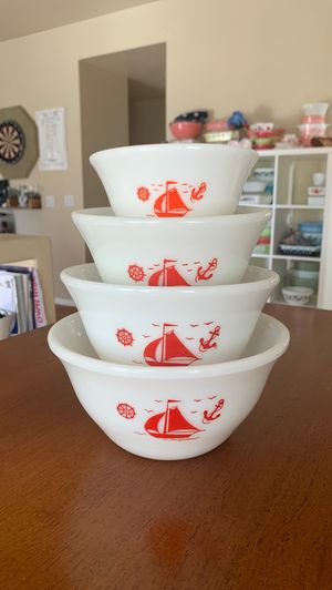 McKee Red Sailboat Bowls for Sale in Henderson, NV