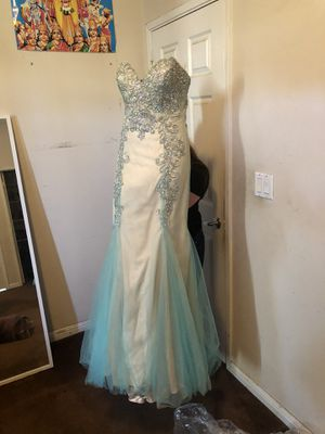 Aqua Blue Crystal Prom Dress for Sale in San Francisco, CA