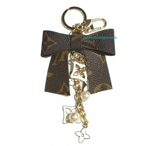Bow reporposed monogram keychain key ring charm for Sale in Austin, TX