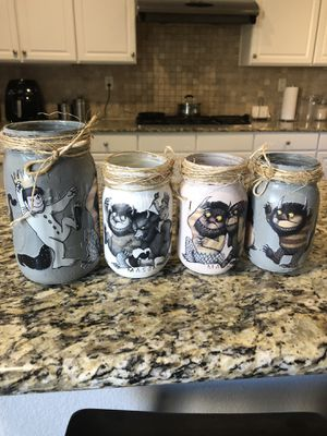 Where the wild things are mason jars for Sale in Jurupa Valley, CA