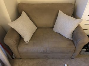 Brown Suede XLarge Chair with Pull Out Twin Bed for Sale in Fairfax, VA