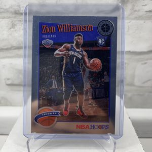 Zion Williamson 2019-20 NBA Hoops Premium Stock Base Tribute RC #296 Pelicans for Sale in Redlands, CA