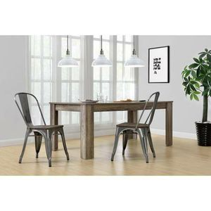 DHP Fusion Metal Dining Chair w/Wood Seat Set of 2 New in Box (Bronze) for Sale in Las Vegas, NV