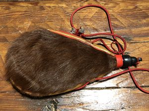 Vintage RARE Fur Boar Hair Bota Bag, Wine Flask Water Bottle Canteen for Sale in Sioux Falls, SD