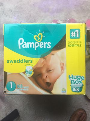 Pampers size 1 swaddlers for Sale in Nashville, TN